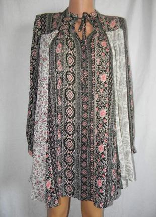 Натуральная блуза свободного кроя asos