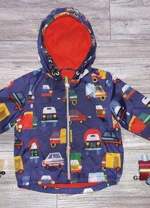 Демисезонная  куртка на флисе 9 мес
