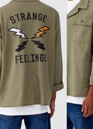 Крутая рубашка из плотного хлопка pull & bear