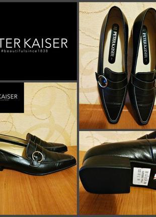 Туфли низкий каблук от peter kaiser, оригинал, кожа, германия