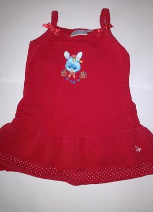 Платье красное на девочку 3-6 мес