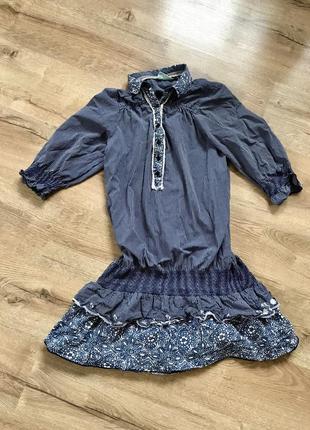 Котонова сукня, плаття, туніка, коттоновое платье туника