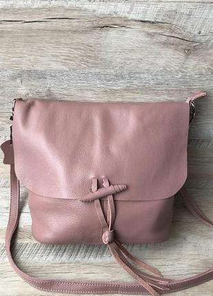 Кожаная женская сумка  итальянская