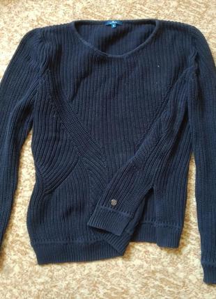 Свитер джемпер кофта пуловер вязаный темно синий