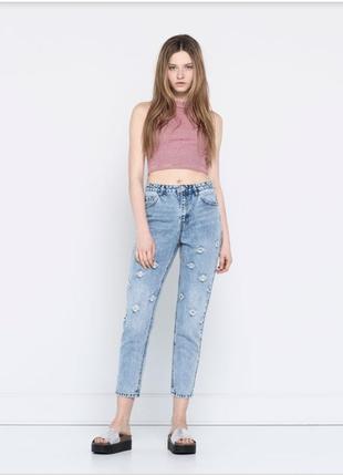 Необычные мам джинсы