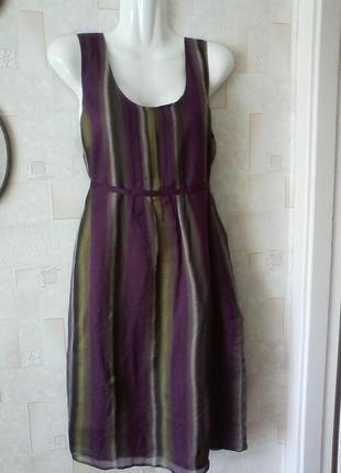 Шелковое платье, шелк воздушный, разм.44