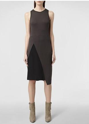 Супер брендовое платье от all saints шёлк вискоза