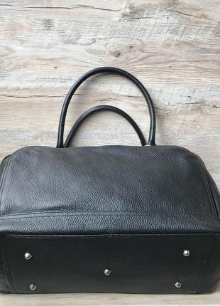Кожаная дорожная спортивная сумка5 фото