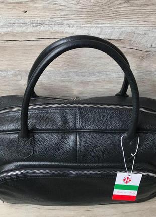 Кожаная дорожная спортивная сумка1 фото