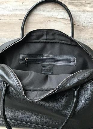 Кожаная дорожная спортивная сумка3 фото