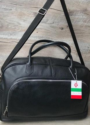 Кожаная дорожная спортивная сумка2 фото