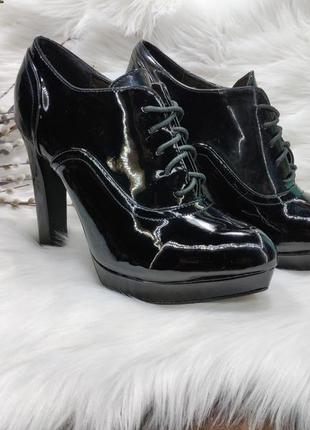 Ботильоны туфли на каблуке jumex ( 41 размер )