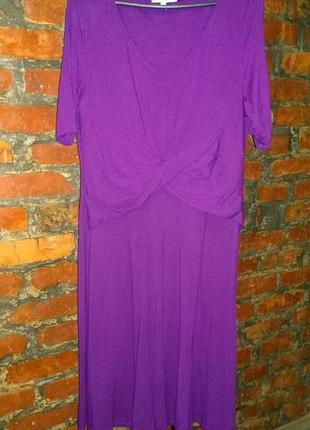 Платье с драпировкой marks & spencer трендового оттенка ультрафиолет
