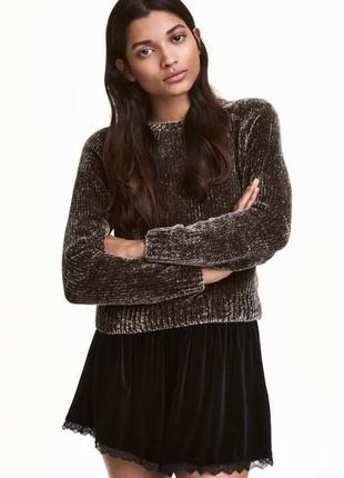 Вязаний коротки светр / джемпер h&m  - xs