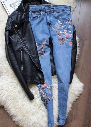 Безумно красивые джинсы с вышивкой