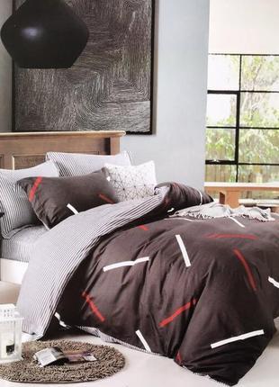 Комплект постельного белья полуторка сатин качественное!
