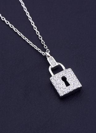 Подвеска серебро(925) фианит 42 см. 0716460