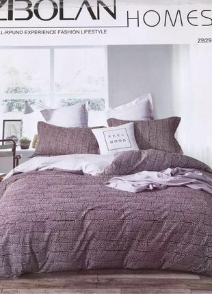 Комплект качественного постельного белья полуторка сатин