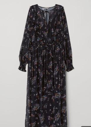 Невероятно красивое, шифоновое платье. h&m