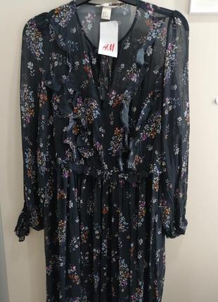 Невероятно красивое, шифоновое платье. h&m4 фото