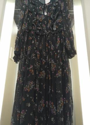 Невероятно красивое, шифоновое платье. h&m7 фото