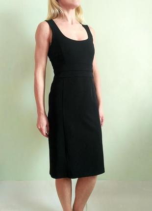 Чёрное миди платье  футляр