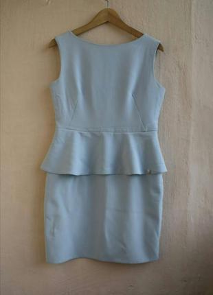Нежно-голубое платье с лаской платье коктейльное постельного цвета