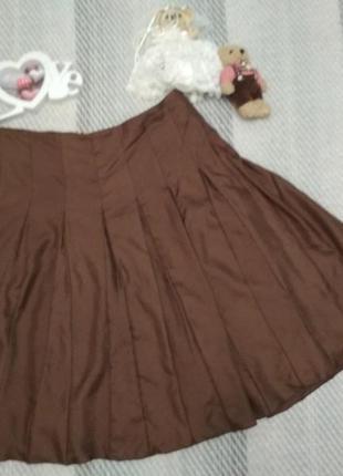 Шикарная шелковая юбка шоколадного цвета от burberry