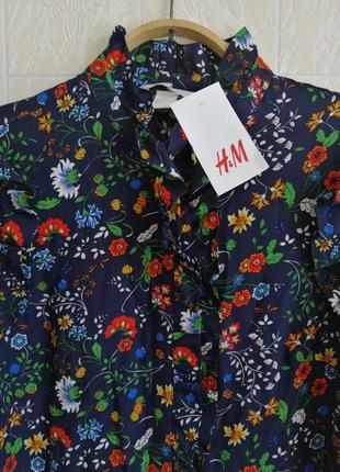 Платье, с оборками. цветочный принт.h&m.9 фото