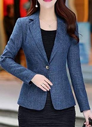 Брендовый синий пиджак жакет блейзер per una болгария шерсть акрил переливается этикетка