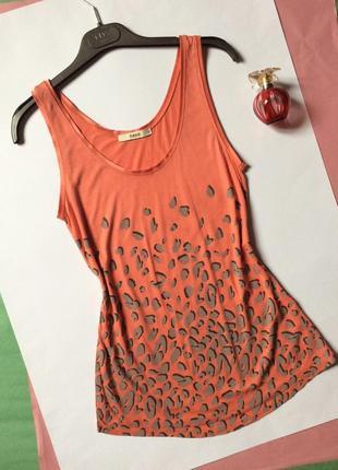 Распродажа,женская летняя майка персиково-пудровая с принтом oasis