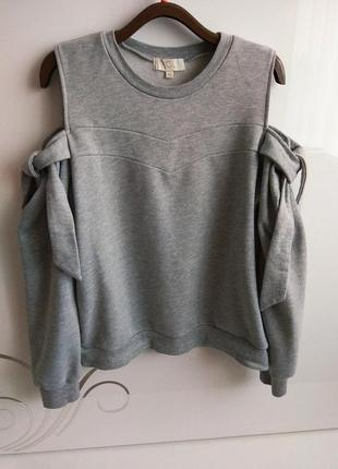 Свитшот свитер толстовка кофта с  завязками !