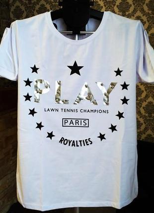 Pakkoo фирменная турецкая новая футболка белая, желтая, пудра play,турция