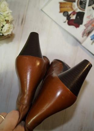 (41/26,5см) pier one! кожа! фирменные красивые сапоги на удобном каблучке5 фото