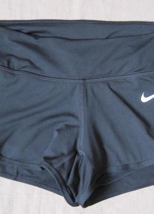 Nike dri-fit (s) спортивные шорты женские c тайтсами
