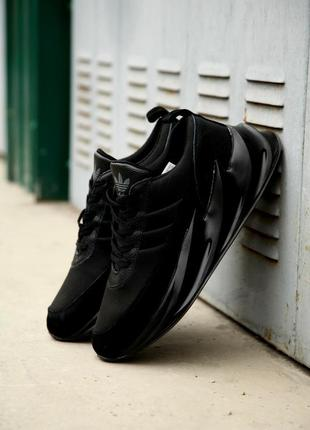 Крутые кроссовки adidas sharks all black💣хит 2019💣