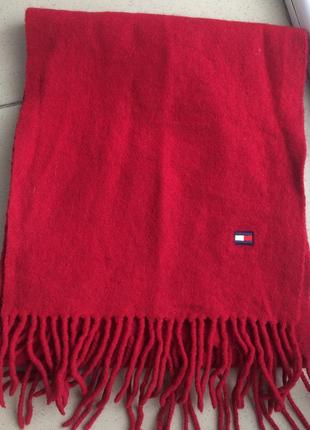 Шерстяной шарф tommy hilfiger