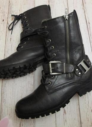 Стильные, кожаные, ботинки осень- весна!