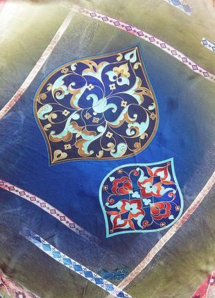 Шелковый турецкий платок необычной расцветки tugba