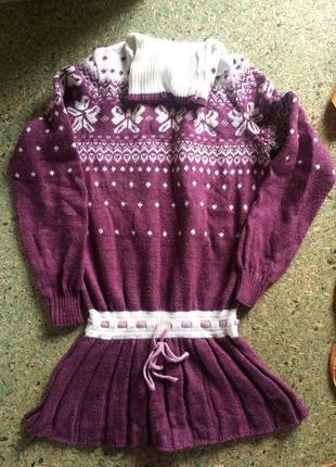 Весенне зимний свитер-туника