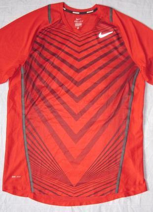 Nike running dri-fit (l) спортивная беговая футболка мужская