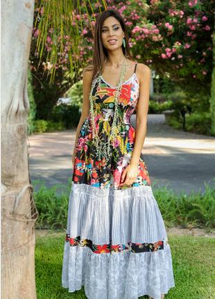 Летнее платье, сарафан из хлопка в стиле бохо indiano , anastasea 556a