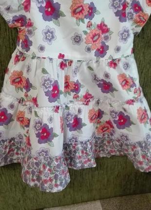 Очень яркое платье на девочку 3-6 месяцев, 100% cotton