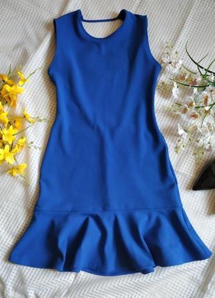 Платье волан рюша