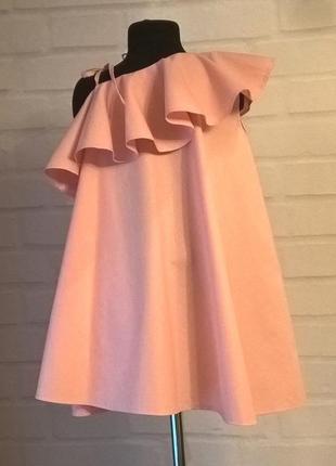 Платье для девочки. платье детское нежно-розового цвета. 100% хлопок.