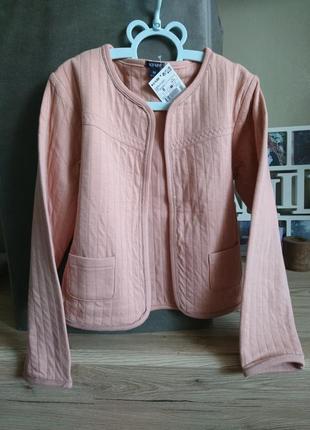 Стильный пиджак kiabi (франция)цвета пудры на 8 лет ❤️1 фото