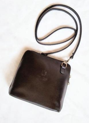 Сумочка кроссбоди сумка vera pelle клатч кожа