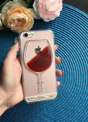 Чехол с переливающим вином в бокале на айфон iphone 6/6s1