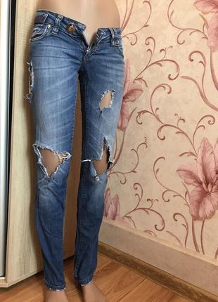 5c19332bcdb Оригинал xs s рваные потертые джинсы низкая посадка