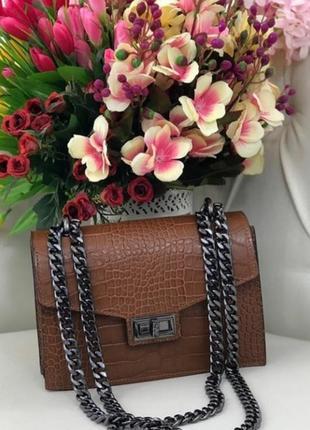 Удобная кожаная сумочка италия